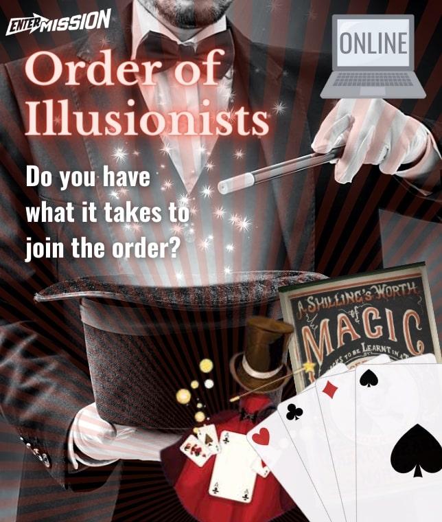 Order of Illusionists Entermission Online Escape Room x