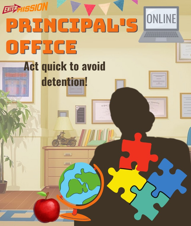 Principals Office Entermission Online Escape Room x