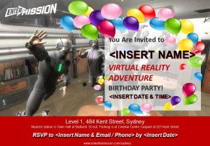 Virtual Reality Rooms Birthday Invite 5