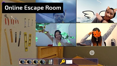 hosted online escape room