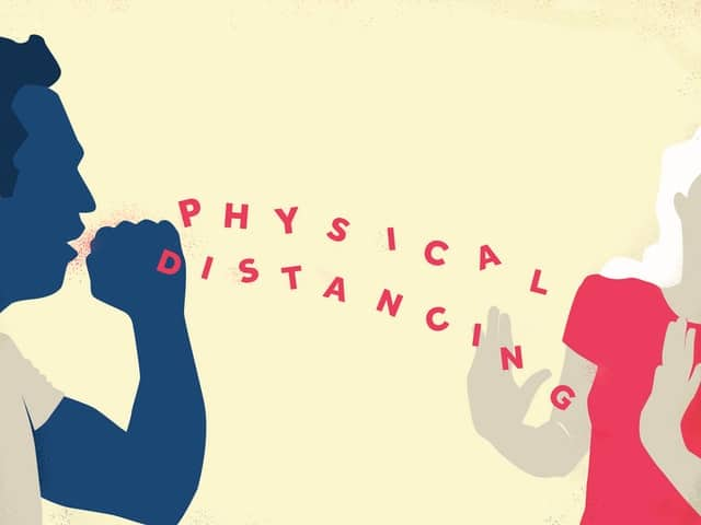 Physical distancing is a key preventive measure.