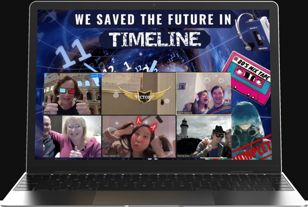 virtual team building hosted online escape game