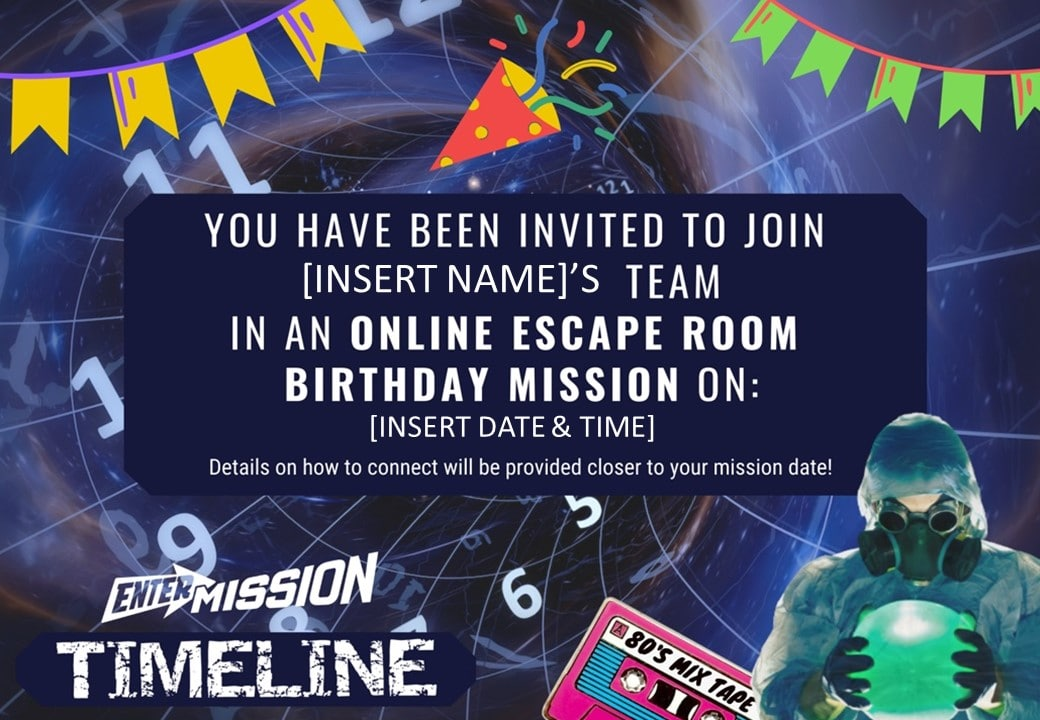 Timeline Invitation Online Escape Room