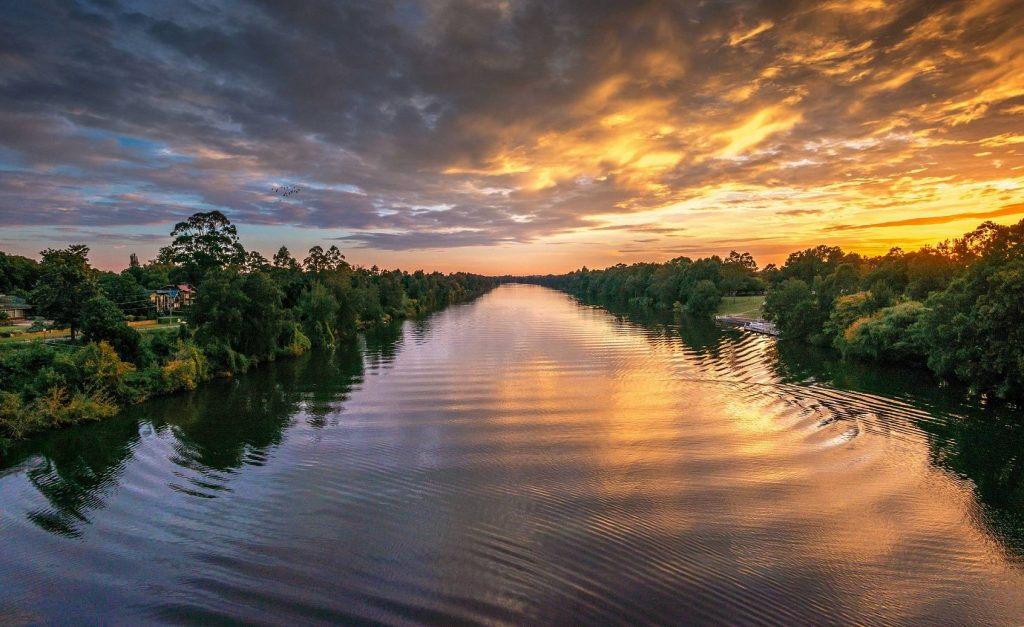 sunset at nepean river
