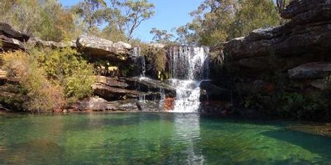 waterfall and pool at upper kangaroo creek