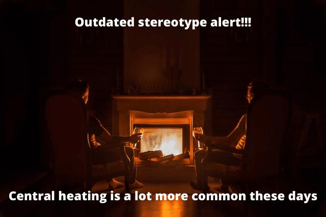 christmas fireplace warm