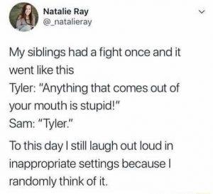 name calling is part of siblinghood!